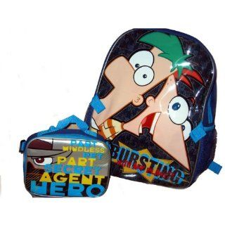 PHINEAS & FERB grosser Rucksack & Lunchbox (Perry, Agent P)   aus USA