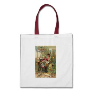 Singer Sewing Machine Ad The First Lesson Tote Bag