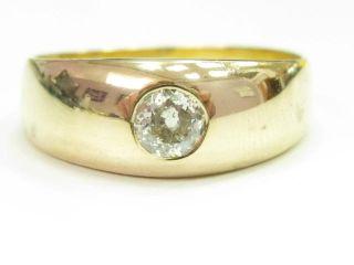 Bandring mit Diamant im Altschliff ca. 0,3ct 585 Gold