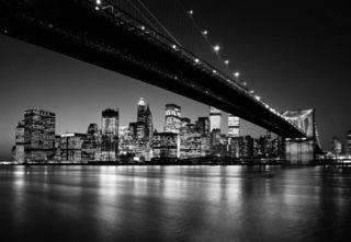 Fototapete MANHATTAN SKYLINE New York by night 366x254