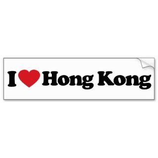 Love Hong Kong Bumper Sticker