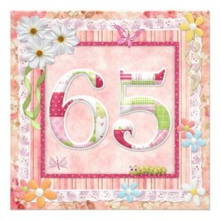 65th birthday party scrapbooking style announcement
