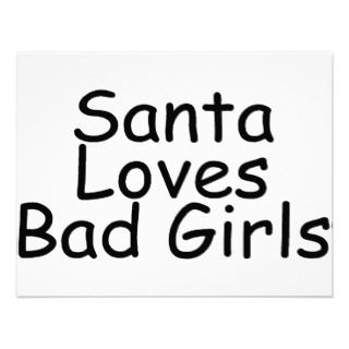 Santa Loves Bad Girl Invite