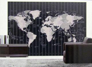 Foto Tapete Zeit Zonen Welt Karte Erde Kontinente 254x366 Photo Bild