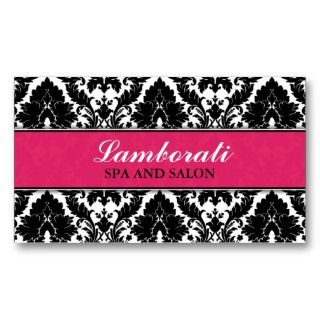 Elegant Damask Floral Pattern Pink Modern Stylish Business Card