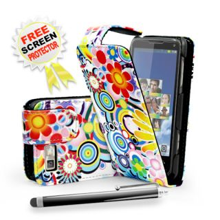 Passion Flowers Flip Leather Case Cover For Motorola Motoluxe XT615