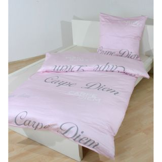 SCHLOSS HELLENSTEIN Baumwoll Satin Bettwaesche 135x200 Carpe Diem pink