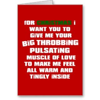 Funny Christmas Card for Him cards by yourmamagreetings