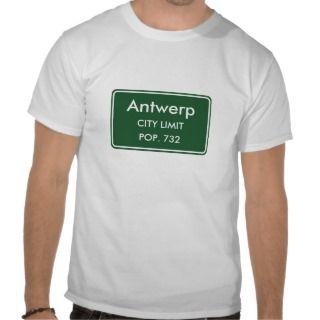 Antwerp New York City Limit Sign T Shirt