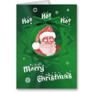 Ho Ho Merry Christmas Santa Winking at You Card