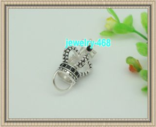 imperial crown link charm silver fashion pendant hot sell 375