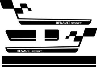 Renault Sport RS Seiten Dekor Aufkleber für Clio,Megane