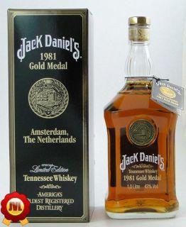 Jack Daniels 1981 Gold Medal 1 Ltr. 43% Sonderflasche Amsterdam The