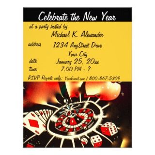 Casino Theme Party Invitations, 95 Casino Theme Party Announcements