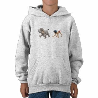 Jungle Books Mowgli and Baby Elephant marching Hooded Pullovers