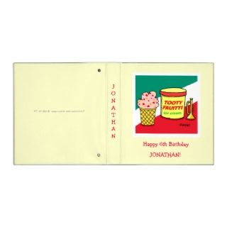 Custom Party Scrapbook For Kids Birthday 3 Ring Binders