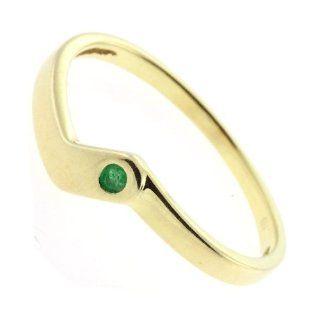 Damen Ring Smaragd echt Gold 333 110264110010 8Karat