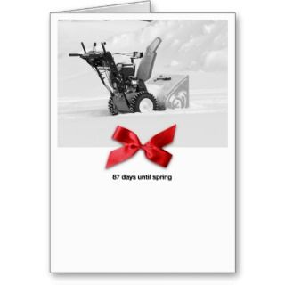 Snow Plow Chrismas Greeing Cards