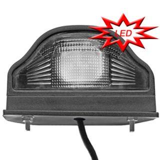 LED Kennzeichenbeleuchtung Nummerschildleuchte schwarz LKW *NEU