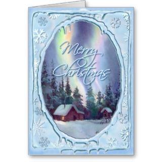 MERRY CHRISMAS LOG CABIN by SHARON SHARPE Cards