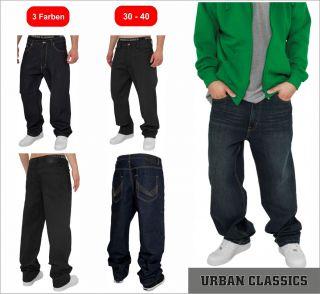 Urban Classics Baggy Fit Jeans Herren Jeans Hip Hop Jeans Pant