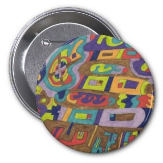 Joyful Noise Abstract Pinback Buttons
