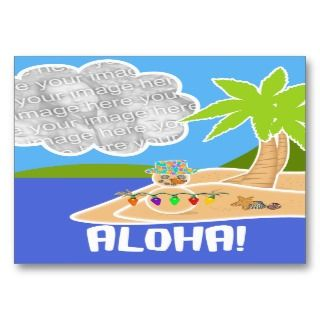 ACEO Hawaii Maui Christmas Photo Card Business Cards