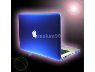 Neu Hard Cover Fall Plastic Feste Blau Für 13Apple MacBook Pro