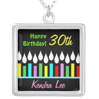 Happy Birthday Candles   Ladies Custom Pendant