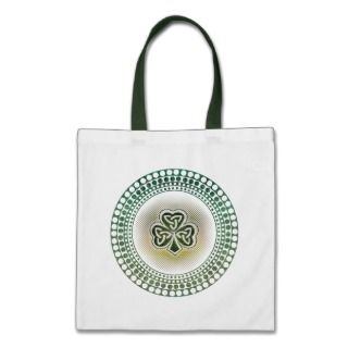 Irish celtic shamrocks tote bags