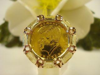 antik Münzring 585/980 fein Gold Ring+UNIKAT+HANDARBEIT