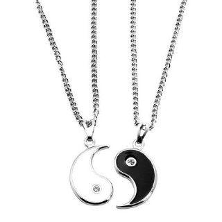 Yin Yang Ø 20 mm glänzend, teilbar ECHT GOLD 333: Schmuck