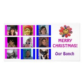 Brady Bunch Style Grid Birthday Christmas Card Photo Card Template