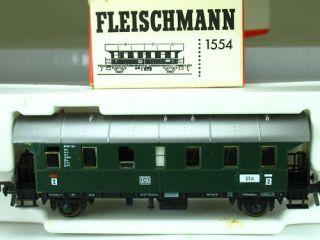 FLEISCHMANN 1554 PERSONENWAGEN 2. KL ULM DB GRÜND407