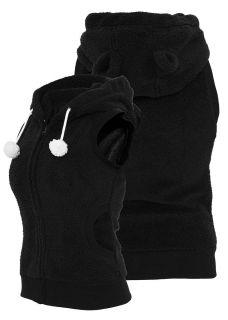Urban Classics Ladies Weste Teddy Vest, schwarz, TB393