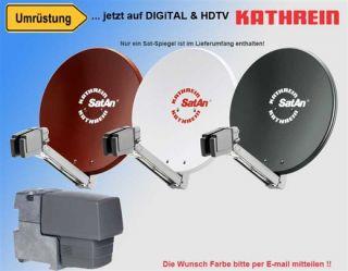Kathrein HDTV Sat Anlage Spiegel CAS 80 + LNB UAS 571 Digital Neu