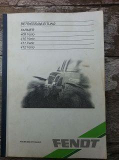 Betriebsanleitung Fendt Farmer Vario 409, 410, 411, 412