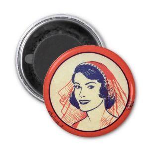 Retro Vintage Kitsch Bridal Shower Party Games Magnet