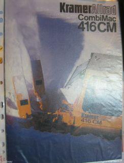 Mobilbagger Prospekt / Heft Baumaschinen Kramer Allrad CombiMac 416 CM