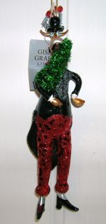 Gisela Graham Glass Christmas/Xmas Tree Hanging Reindeer Decoration