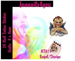 24 Nail Tattoo Sticker NT411 Engel/Design Versandkostenfrei