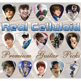 Justin Bieber Premium Gold Plektrons X 15 Medium Alle