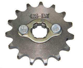 Ritzel 428 15Zähne 17mm Dirt Bike,Pit Bike,ATV,Quad