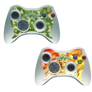 Xbox 360   Controller Twin Skin [Green Nato & Dragon]