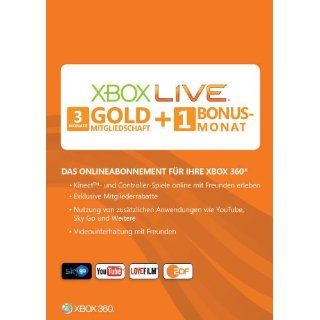 Xbox 360   Live Gold 3+1 Monate Games
