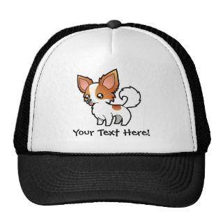 Cartoon Chihuahua (red parti long coat) hats by SugarVsSpice