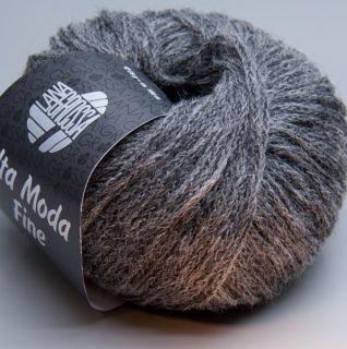 Lana Grossa Alta Moda Fine 008 frost gray 25g Wolle