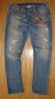 True Religion ~ Jeans Boyfriend Cameron Gold Fashion UVP419 ~ NEU W29