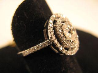R434 750er 18kt Weißgold Ring mit großen großer Brillant Brillanten