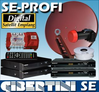 Sat Anlage digital GIBERTINI SE 85cm 4 Teilnehmer + 4x Sat Anlage